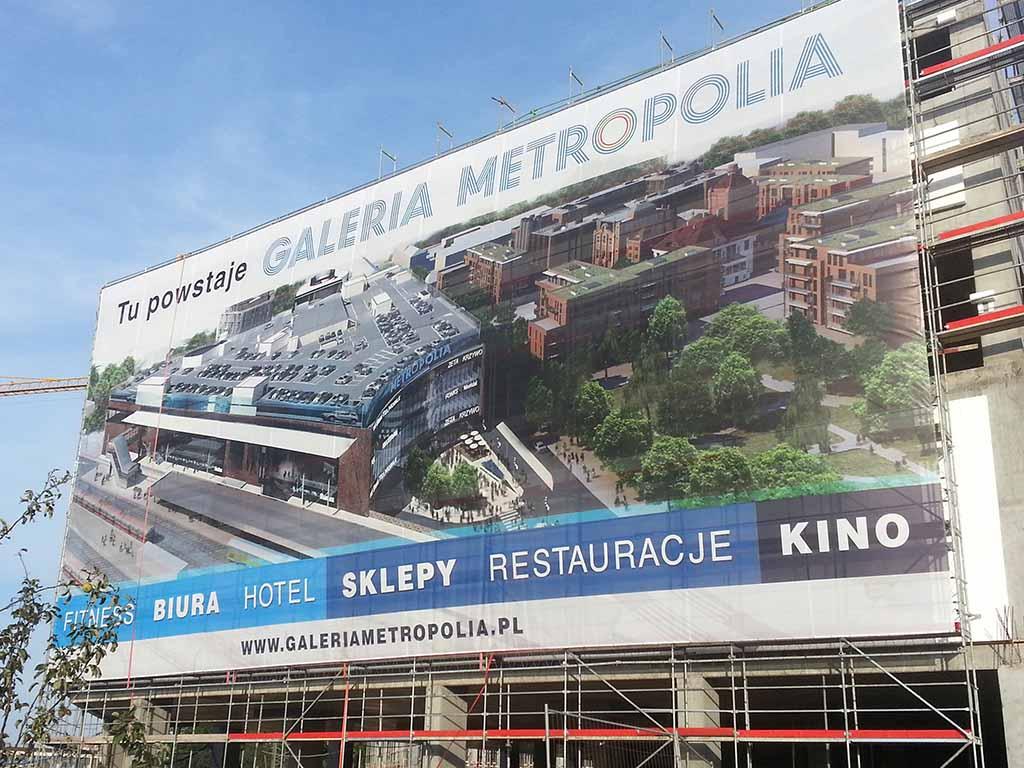 reklama na rusztowaniu / scaffolding advertising / Gerüstwerbung